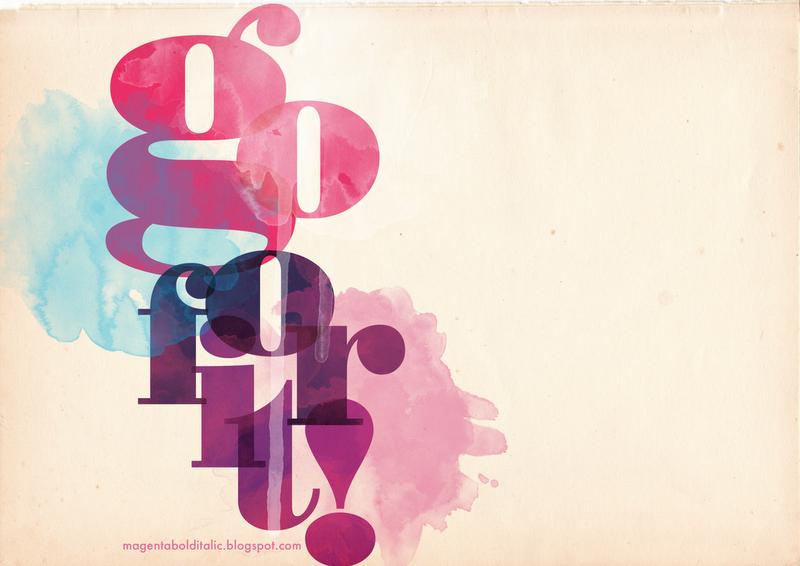 Magenta Bold Italic: Bodoni Poster