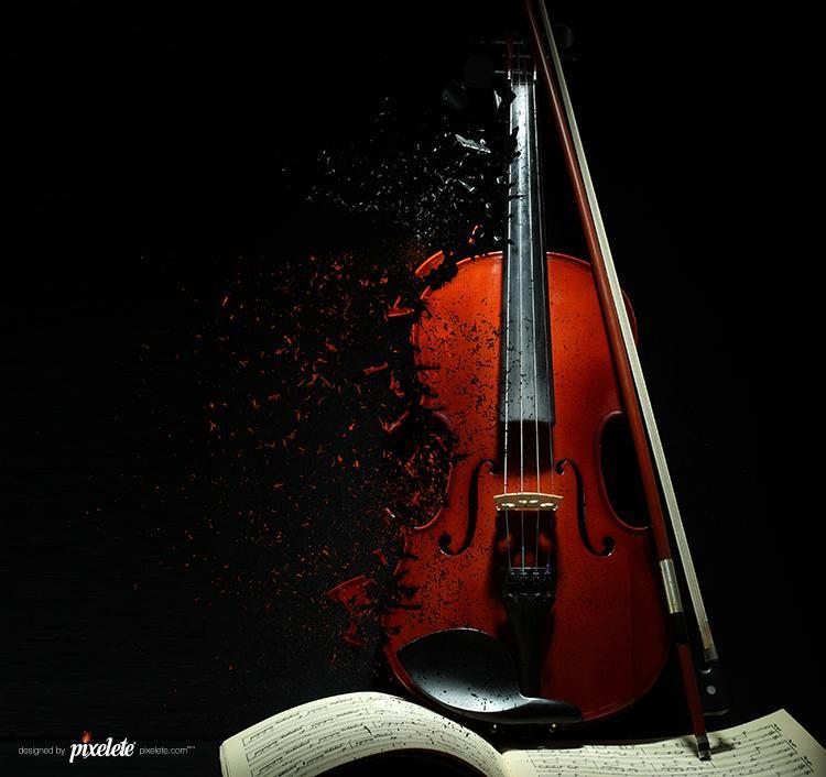 Destroyed music | pixelete
