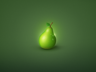 Pear From Space by Markus Vad Flaaten