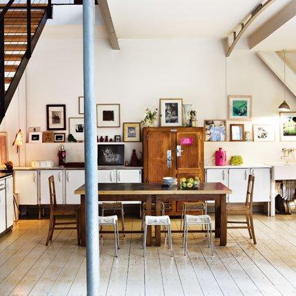 Une cuisine de bric et de broc au style rétro - Marie Claire Maison