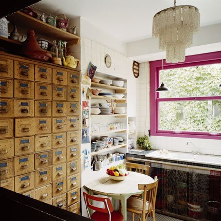 Cuisine vintage à l'esprit brocante - Marie Claire Maison