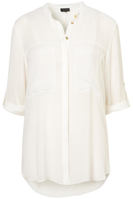 Big Pocket Shirt - Blouses & Shirts - Tops - Clothing - Topshop