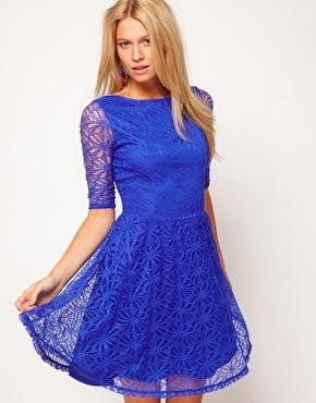 ASOS | ASOS Skater Dress In Lace at ASOS