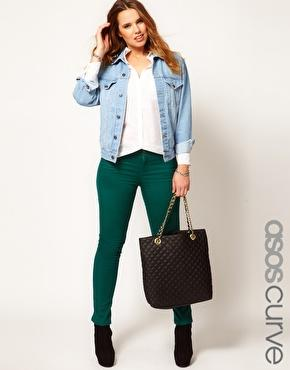 ASOS Curve | ASOS CURVE Exclusive Skinny In Green at ASOS