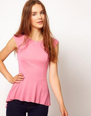 Warehouse | Warehouse Hi Lo Peplum Top at ASOS