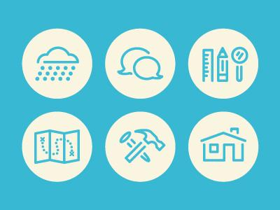 Roof Repair Icons by Zach Graham