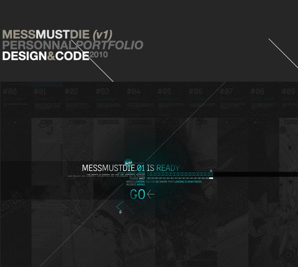 Mess Must Die : Flash Portfolio on Web Design Served