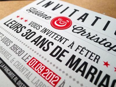 Type / Invitation-30ans — Designspiration