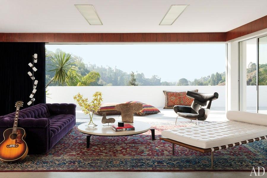 Adam Levine's Hollywood Hills Home : Celebrity Style : Architectural Digest