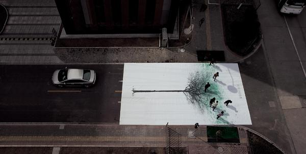 INTERACTION / green pedestrian crossing by jody xiong of DDB china — Designspiration