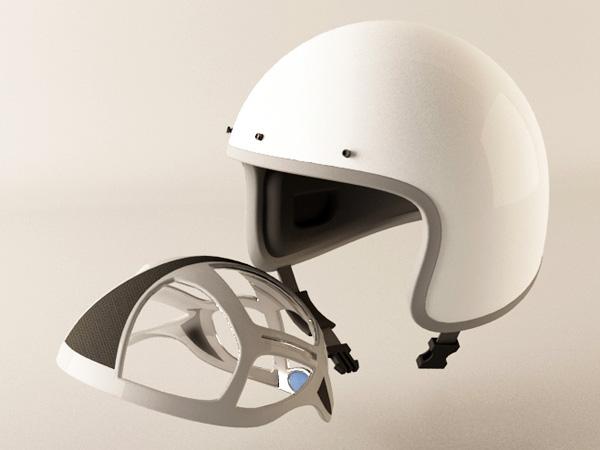 Inflatable Helmet Pad by Huang Tai-Shun, Hsu I-Ting, Mao Chung-Huai & Cheng Yune-YU » Yanko Design