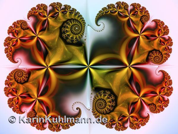 Golden Fractal Spirals