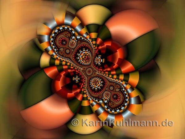 Colorful Geometric Fractal Design