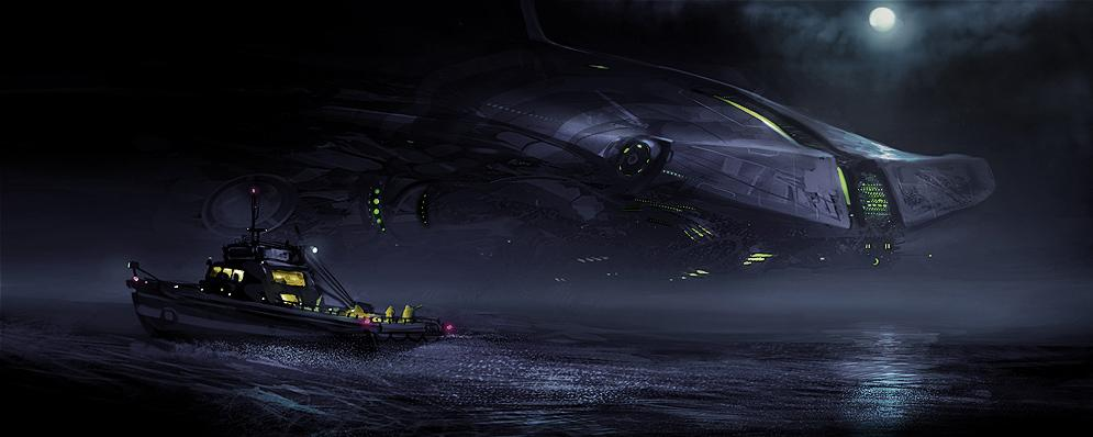 concept ships: Concept spaceships by Daryl Mandryk