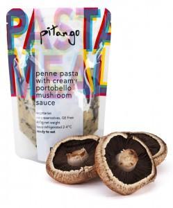 penne pasta with creamy portobello mushroom sauce | pitango