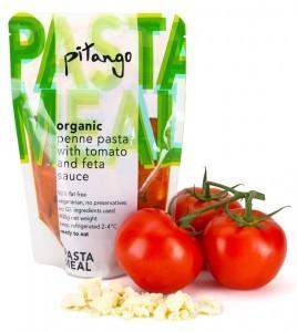 organic penne pasta with tomato & feta sauce | pitango