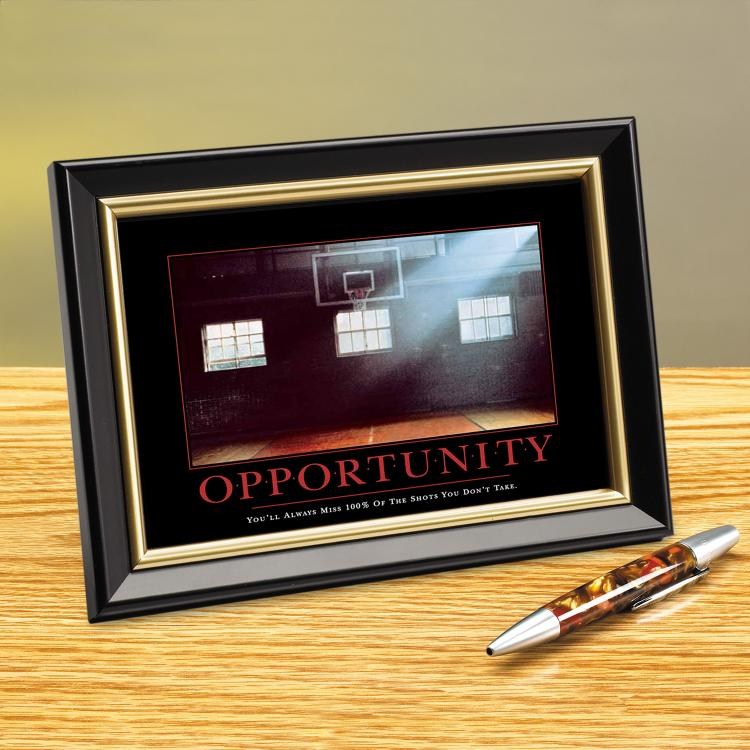 OPPORTUNITY BASKETBALL FRAMED DESKTOP PRINT image by Successories - Photobucket