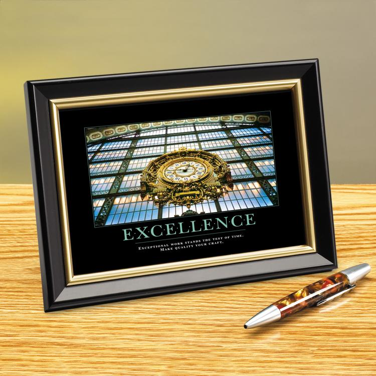 EXCELLENCE CLOCK FRAMED DESKTOP PRINT image by Successories - Photobucket