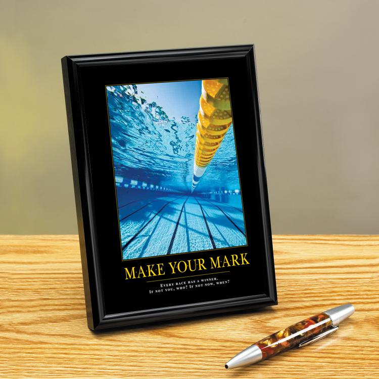 MAKE YOUR MARK FRAMED DESKTOP PRINT image by Successories - Photobucket