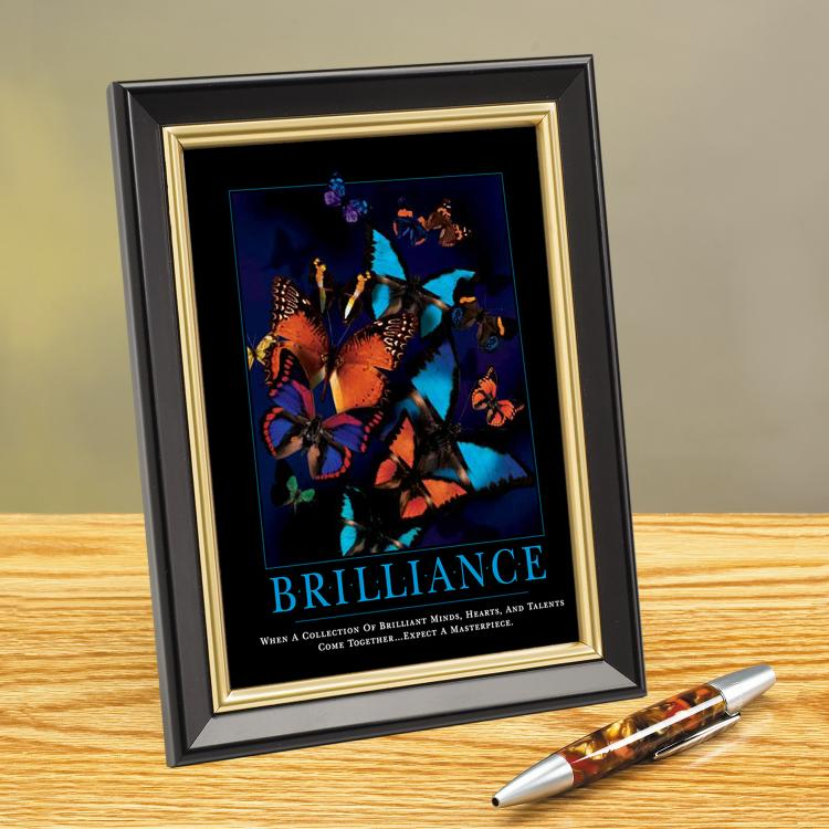 BRILLIANCE BUTTERFLY FRAMED DESKTOP PRINT image by Successories - Photobucket