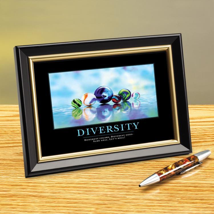 DIVERSITY MARBLES FRAMED DESKTOP PRINT image by Successories - Photobucket