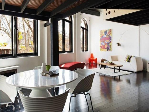 New York style warehouse apartment   Interior Design and Architecture