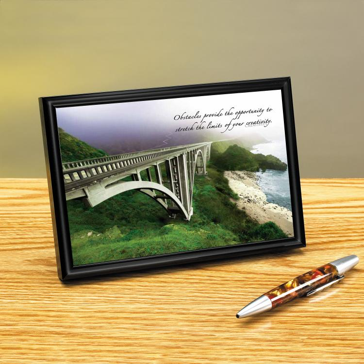 PACIFIC BRIDGE FRAMED DESKTOP PRINT image by Successories - Photobucket