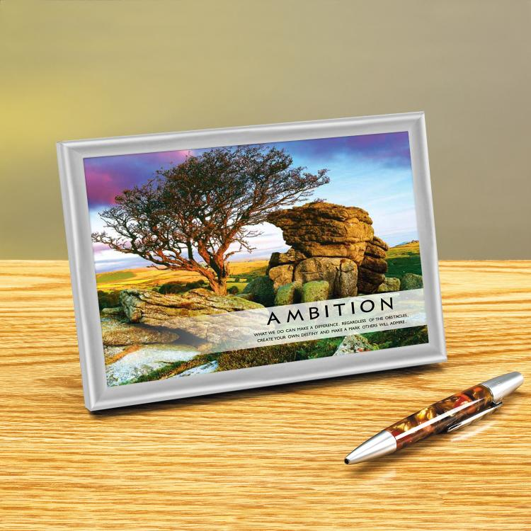 AMBITION FRAMED DESKTOP PRINT image by Successories - Photobucket