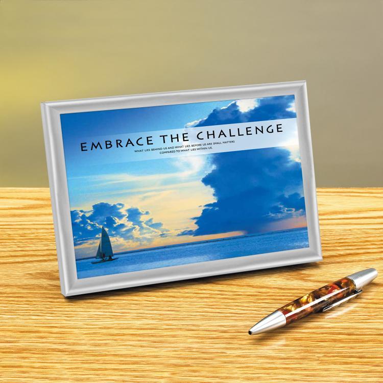 EMBRACE THE CHALLENGE FRAMED DESKTOP PRINT image by Successories - Photobucket