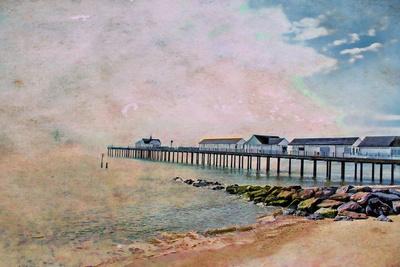 The Pier Art Print by Ally Coxon | Society6