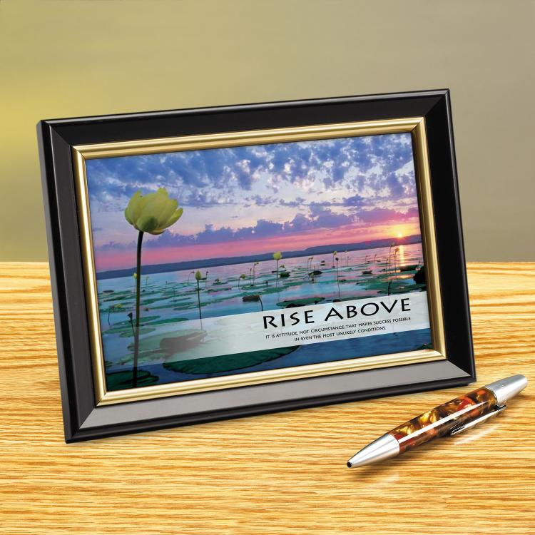 RISE ABOVE LILY PADS FRAMED DESKTOP PRINT image by Successories - Photobucket