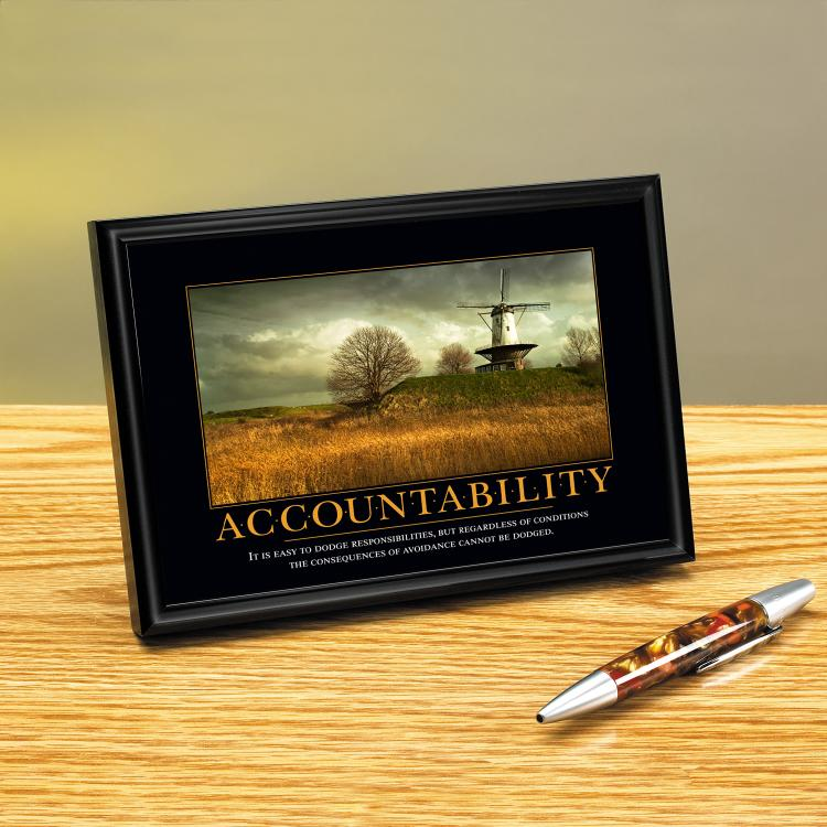 ACCOUNTABILITY WINDMILL FRAMED DESKTOP PRINT image by Successories - Photobucket