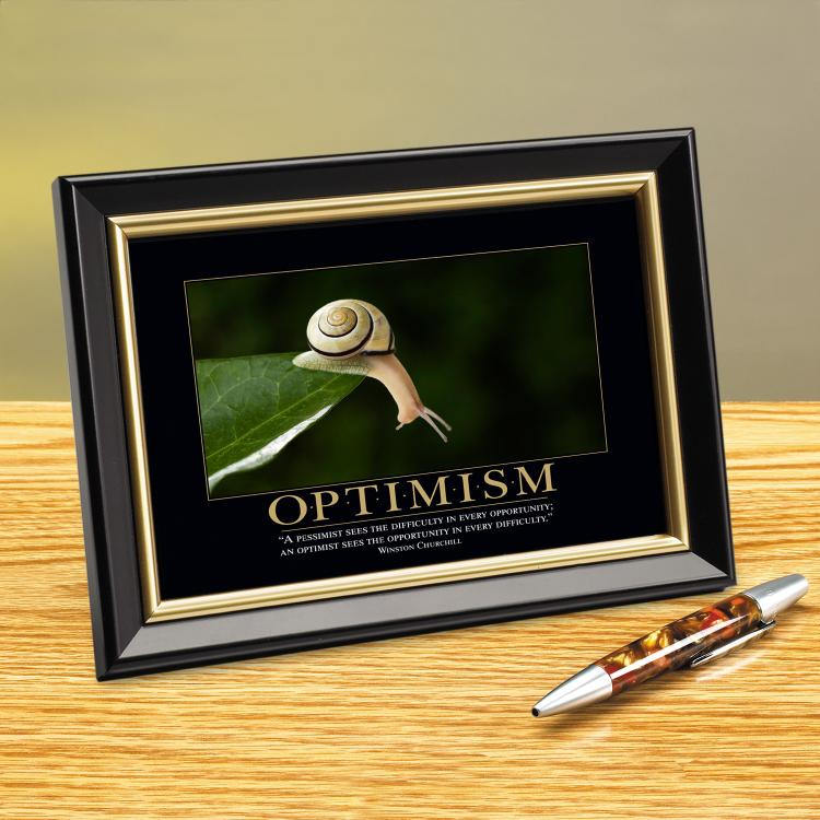 OPTIMISM SNAIL FRAMED DESKTOP PRINT image by Successories - Photobucket