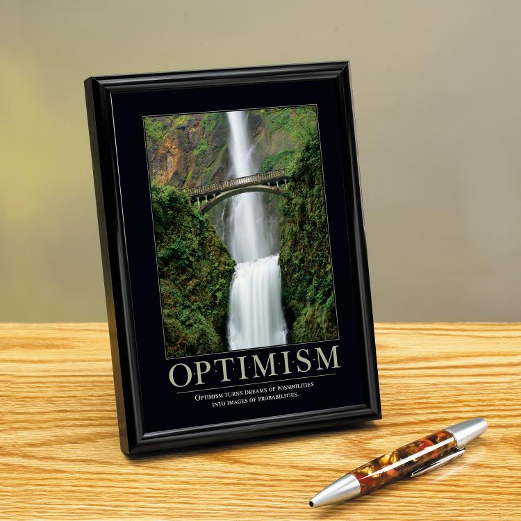 OPTIMISM WATERFALL FRAMED DESKTOP PRINT image by Successories - Photobucket