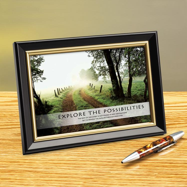 EXPLORE THE POSSIBILITIES PATH FRAMED DESKTOP PRINT image by Successories - Photobucket