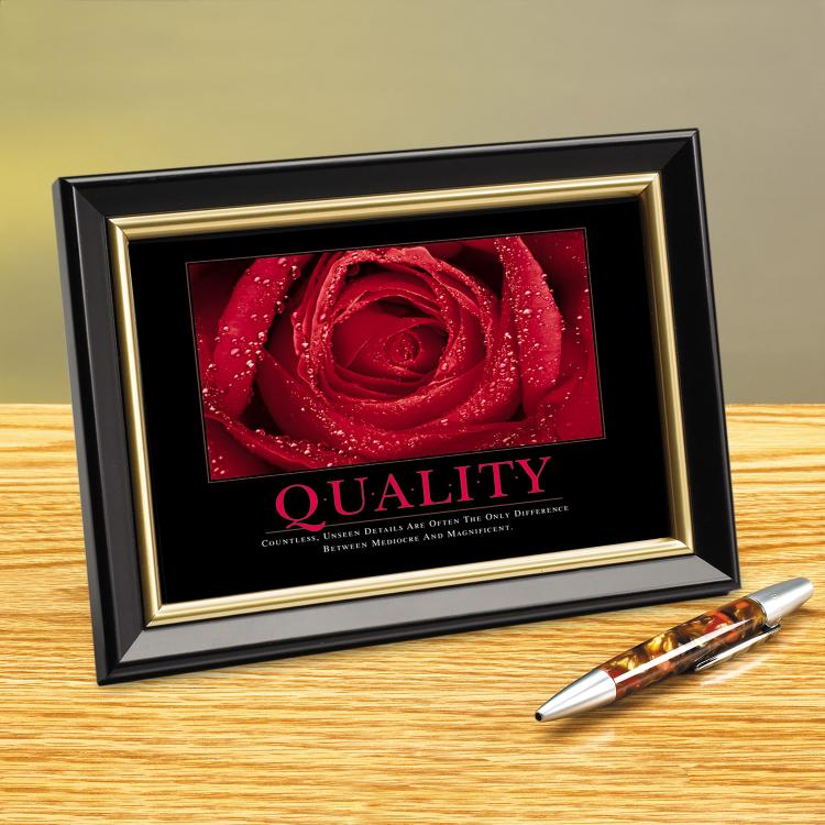 QUALITY ROSE FRAMED DESKTOP PRINT image by Successories - Photobucket