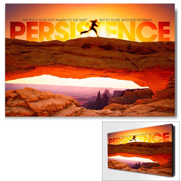 PERSISTENCE RUNNER INFINITY EDGE WALL DECOR image by Successories - Photobucket