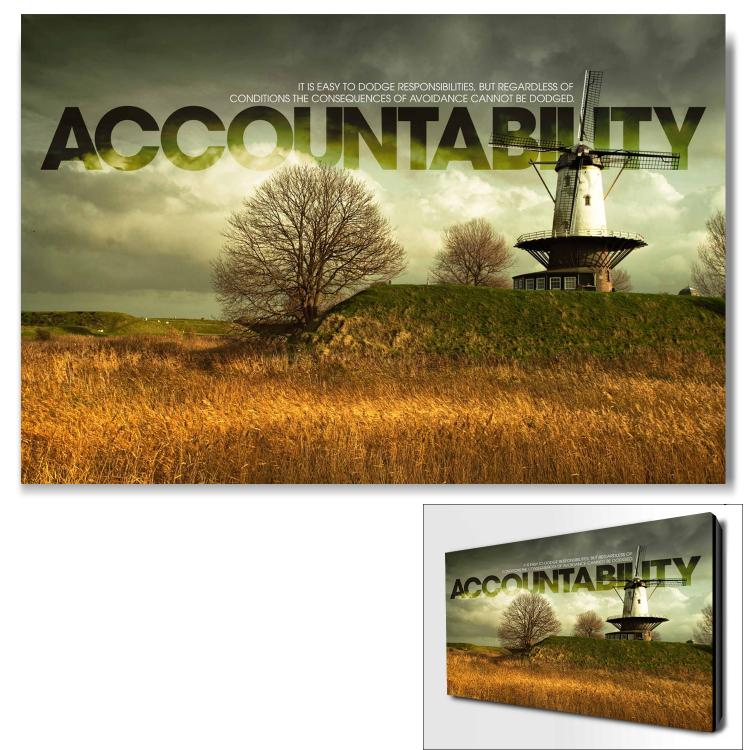 ACCOUNTABILITY WINDMILL INFINITY EDGE WALL DECOR image by Successories - Photobucket