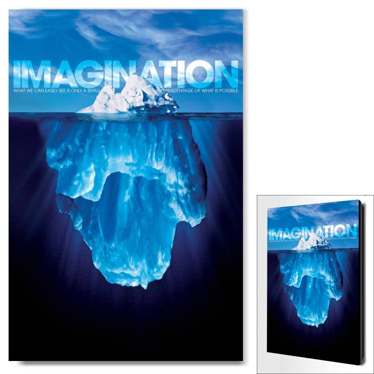 IMAGINATION ICEBERG INFINITY EDGE WALL DECOR image by Successories - Photobucket
