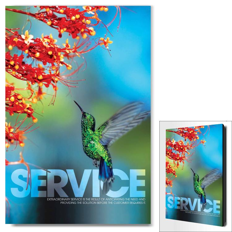SERVICE HUMMINGBIRD INFINITY EDGE WALL DECOR image by Successories - Photobucket