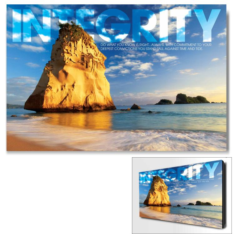 INTEGRITY ROCK INFINITY EDGE WALL DECOR image by Successories - Photobucket