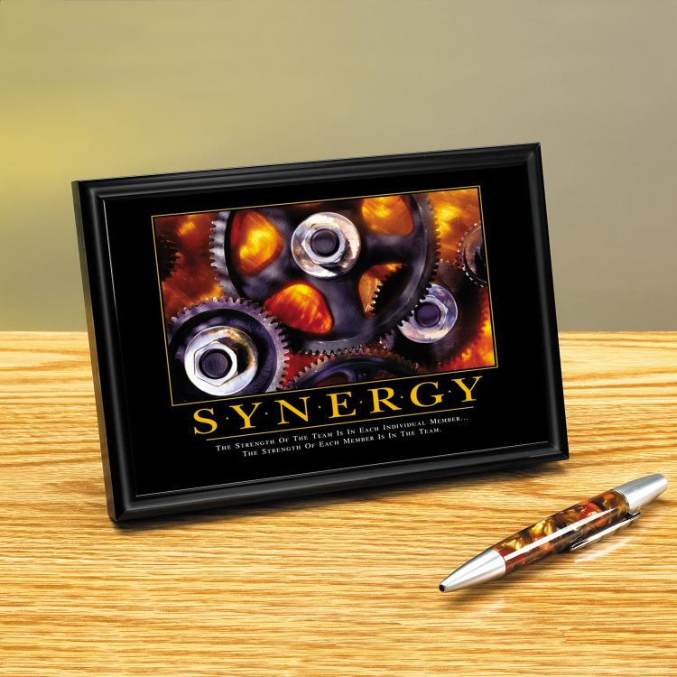 SYNERGY GEARS FRAMED DESKTOP PRINT image by Successories - Photobucket