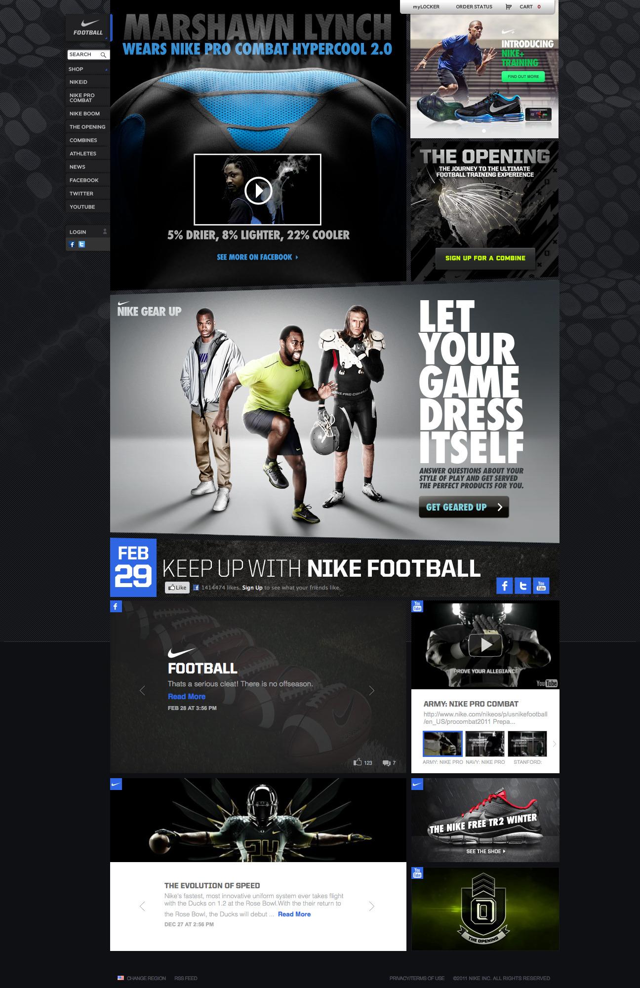 nike webdesign