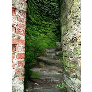 April is..., Tower wall staircase, Youghal, Co. Cork, Irelan... - Polyvore