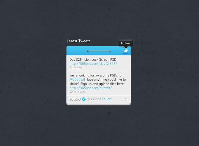 Twitter Widget Design - 365psd