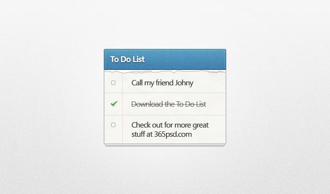 To Do List PSD - 365psd