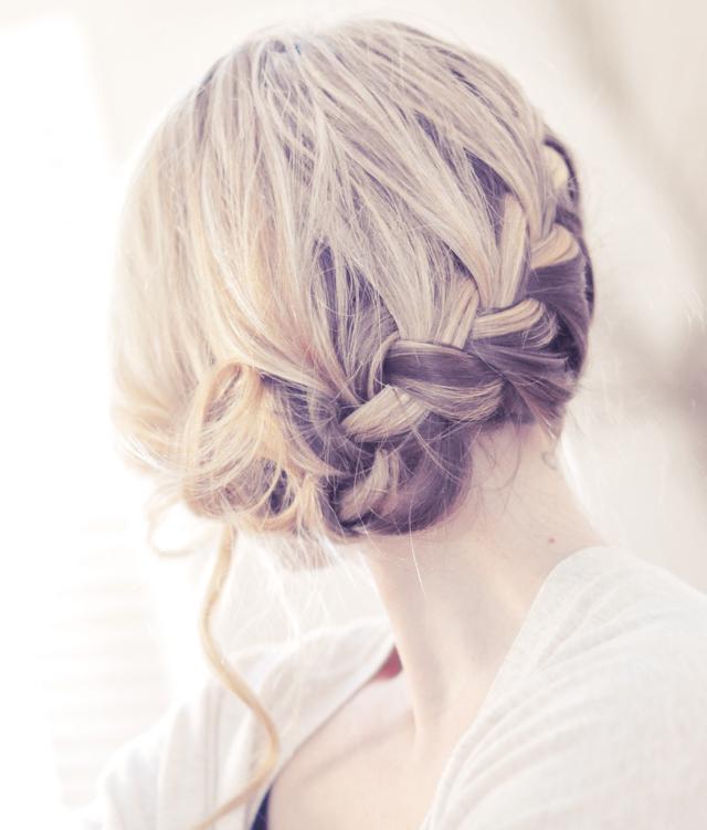 ...love Maegan: Pretty Side French Braid low Updo Hair Tutorial Fashion+Home+Lifestyle