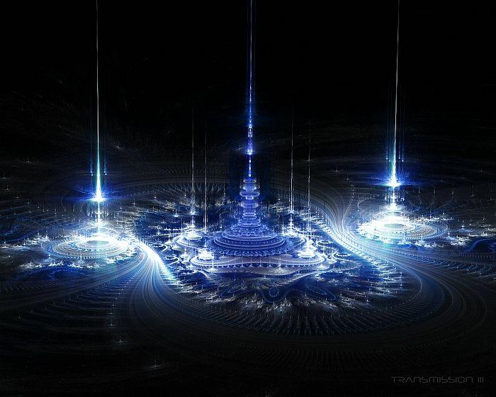 Transmission - Beautiful Sci-Fi Scene Fractal Art Wallpapers 8 - Wallcoo.net