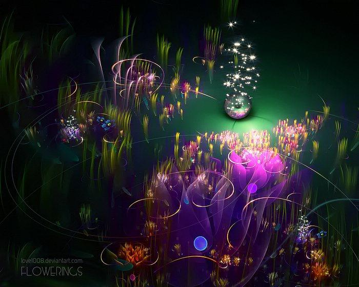 Fractal Flowers - Amazingly Stunning Floral Fractal Art Wallpapers 2 - Wallcoo.net