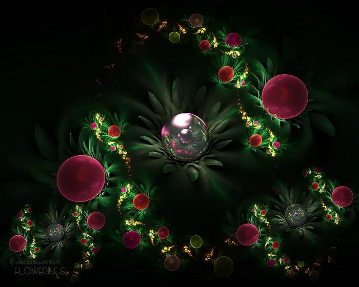 Fractal Flowers - Abstract Floral Fractal Art Wallpapers 11 - Wallcoo.net